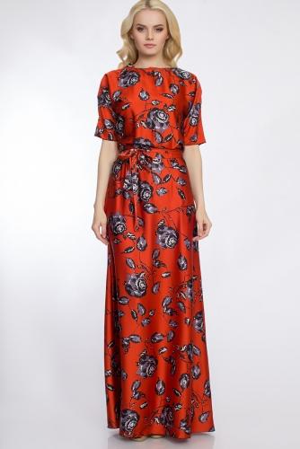Платье #30378Кирпичный