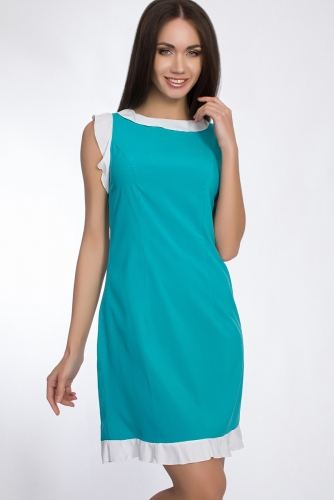 Платье #31031Белый/Голубой