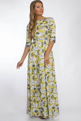 Платье #30268Горчичный