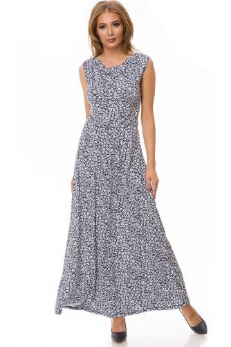 Платье #78466Крокусы/голубой