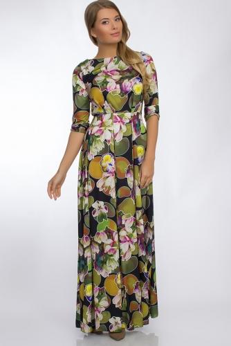 Платье #30263Темно-зеленый