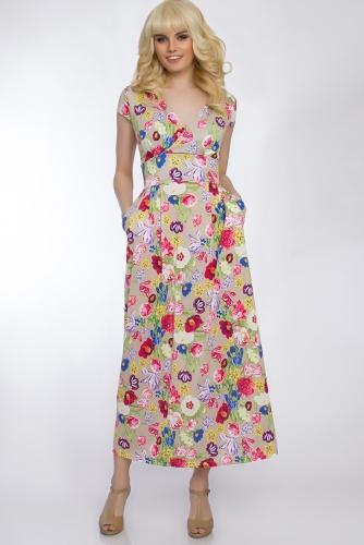 Платье #30431Бежевый