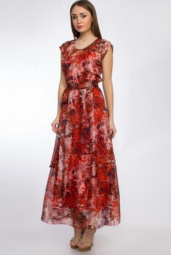 Платье #29662Оранжевый