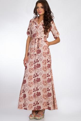 Платье #50685Бежевый