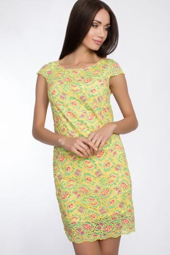 Платье #31399Желтый
