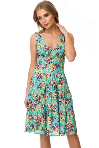 Платье #77135Бирюза
