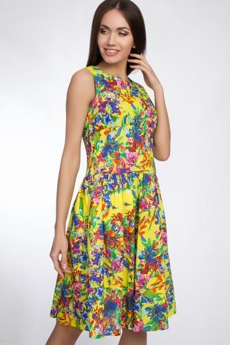 Платье #31397Желтый