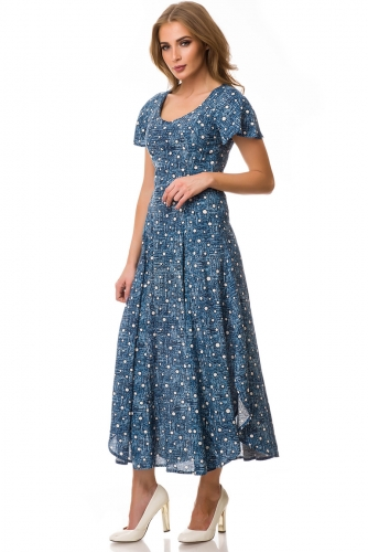 Платье #77133Синий