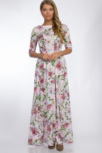 Платье #30266Розовый