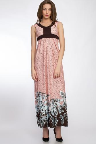 Платье #33087Персиковый