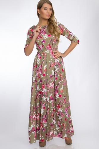 Платье #30264Коричневый