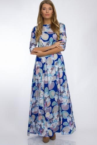 Платье #30262Синий
