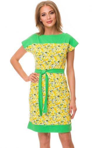 Платье #82009Желтый