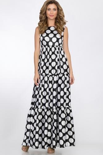 Платье #52885Черно-белый
