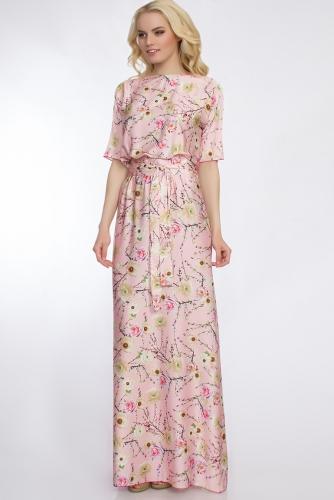 Платье #30383Розовый