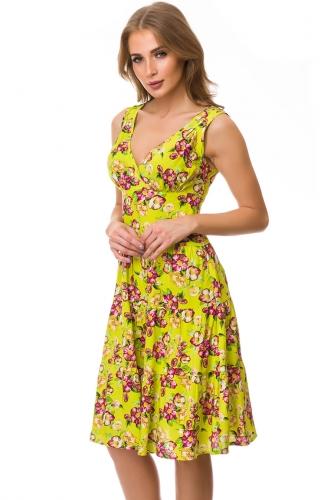 Платье #77134Лайм