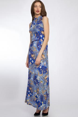 Платье #33093Голубой