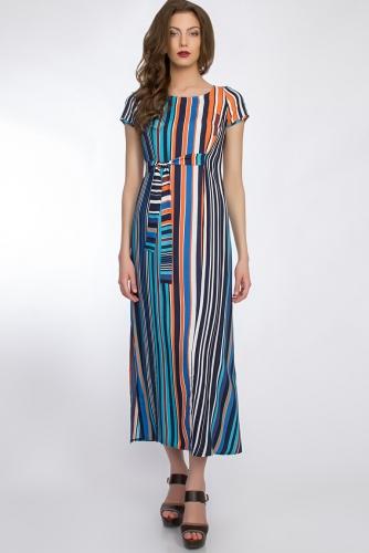 Платье #32886Сине-голубой