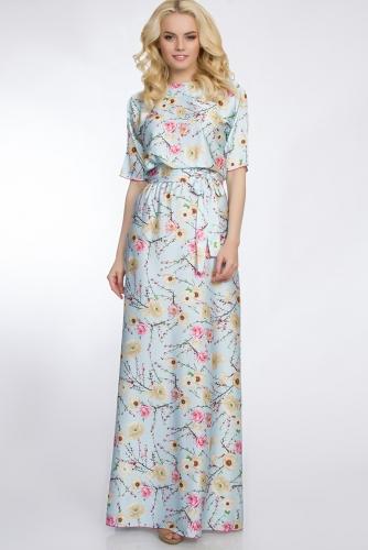 Платье #30382Светло-голубой