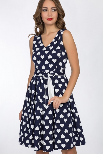 Платье #52404Темно-синий