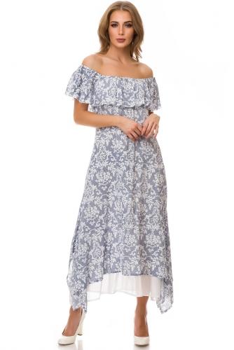 Платье #77156Голубой