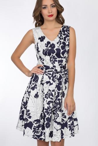 Платье #52405Бело-синий