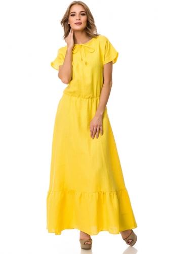 Платье #76685Желтый