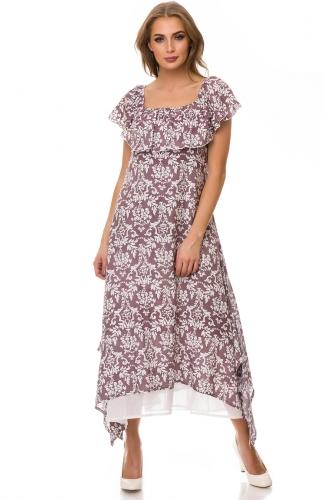 Платье #77155Коричневый