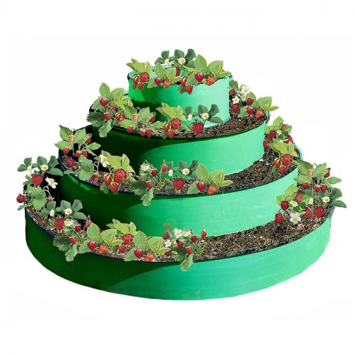 Грядка гибкая, 4 яруса, d=50-90-130-170 см, h=85 см, Эконом, зелёная