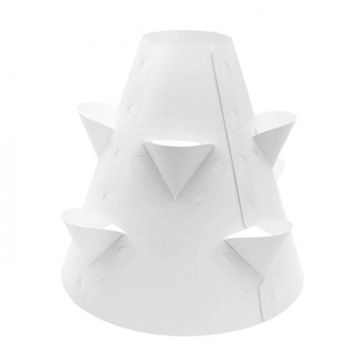 Клумба конусная, d=20-60 см, h=60 см, белая