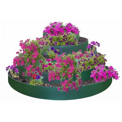 Клумба гибкая, 5 ярусов, d=40-60-80-100-120 см, h=60 см, зелёная