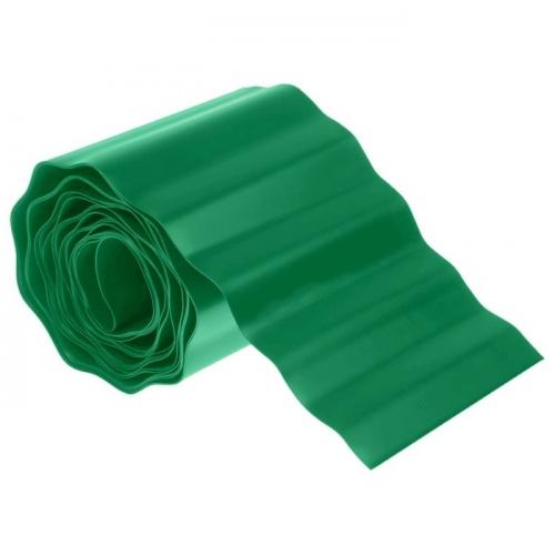 Лента бордюрная 0.15 х 9 м, гофра, зелёная