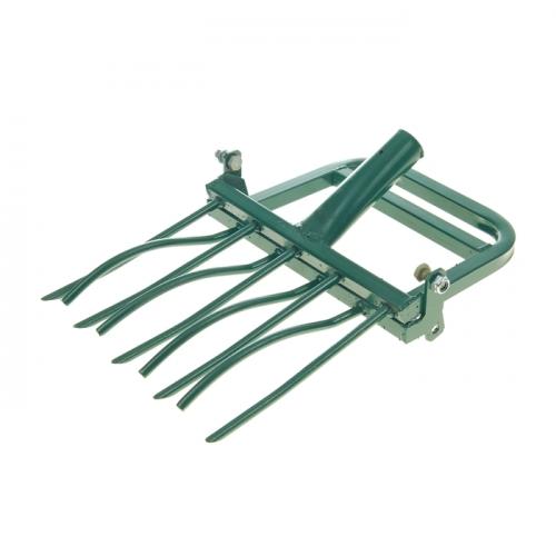 Рыхлитель садово-огородный, ширина копки 42 см, 5 зубцов, тулейка 40 мм, без черенка, «Землекоп-5»