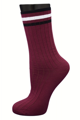 #24831 Женские носки Бордовый