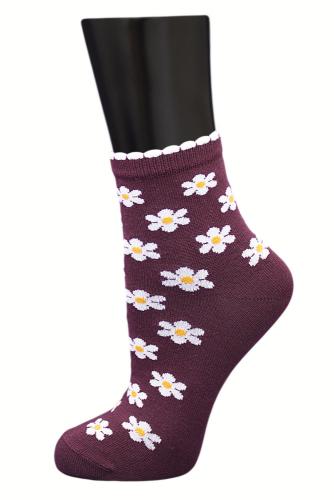 #24785 Женские носки Бордовый