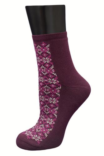 #24993 Женские носки Бордовый
