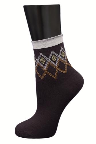 #24803 Женские носки Коричневый
