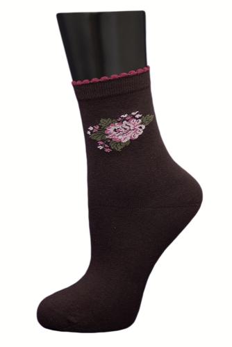 #24857 Женские носки Коричневый