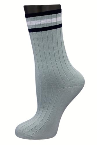 #24832 Женские носки Серо-бирюзовый