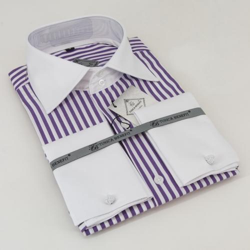 Мужская рубашка 210-8-mz12s-49purst