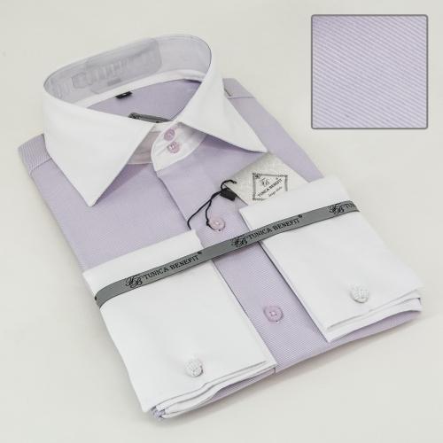 Мужская рубашка 210-6-mz12s-02pur
