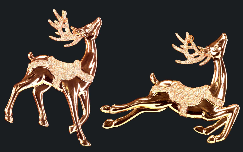 картинки золотой олень открытка поросенком