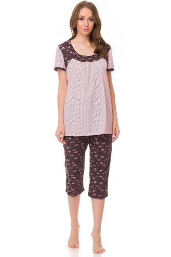 Пижама (Блуза + Бриджи) #82217В ассортименте