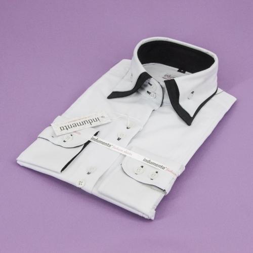 Женская блузка с двойным воротником арт.W2W-22FWHTBLK