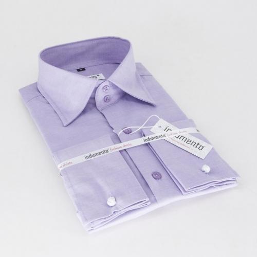 Классическая мужская рубашка манжет под запонку арт. O5M-12FPUR