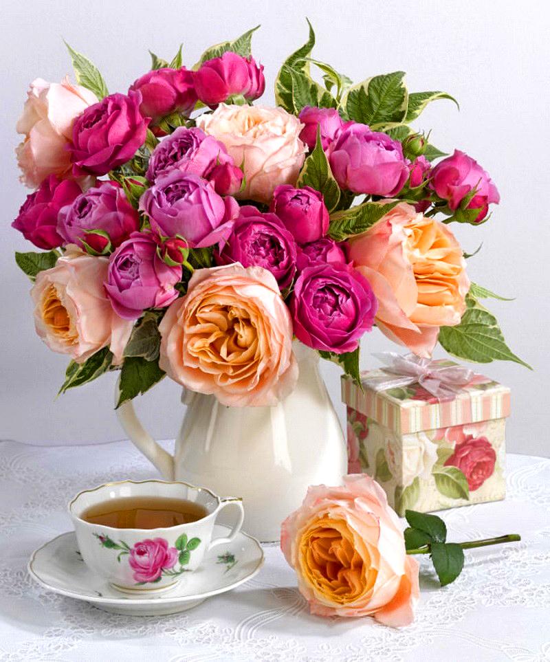 Черным юмором, открытки букет роз с добрым утром