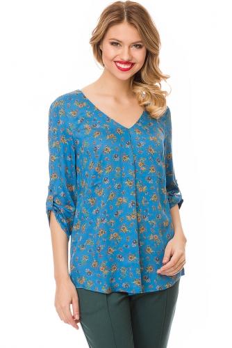 Блуза #81901Сине-голубой