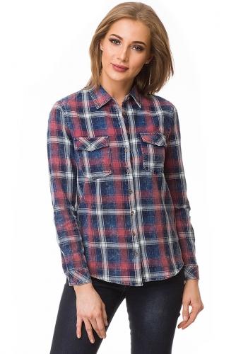 Рубашка #80072Темно-синий