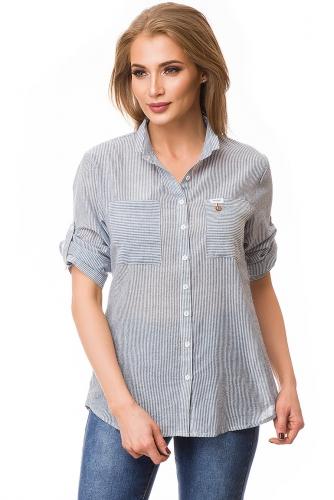 Рубашка #79799Голубой
