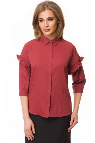 Рубашка #79984Бордовый